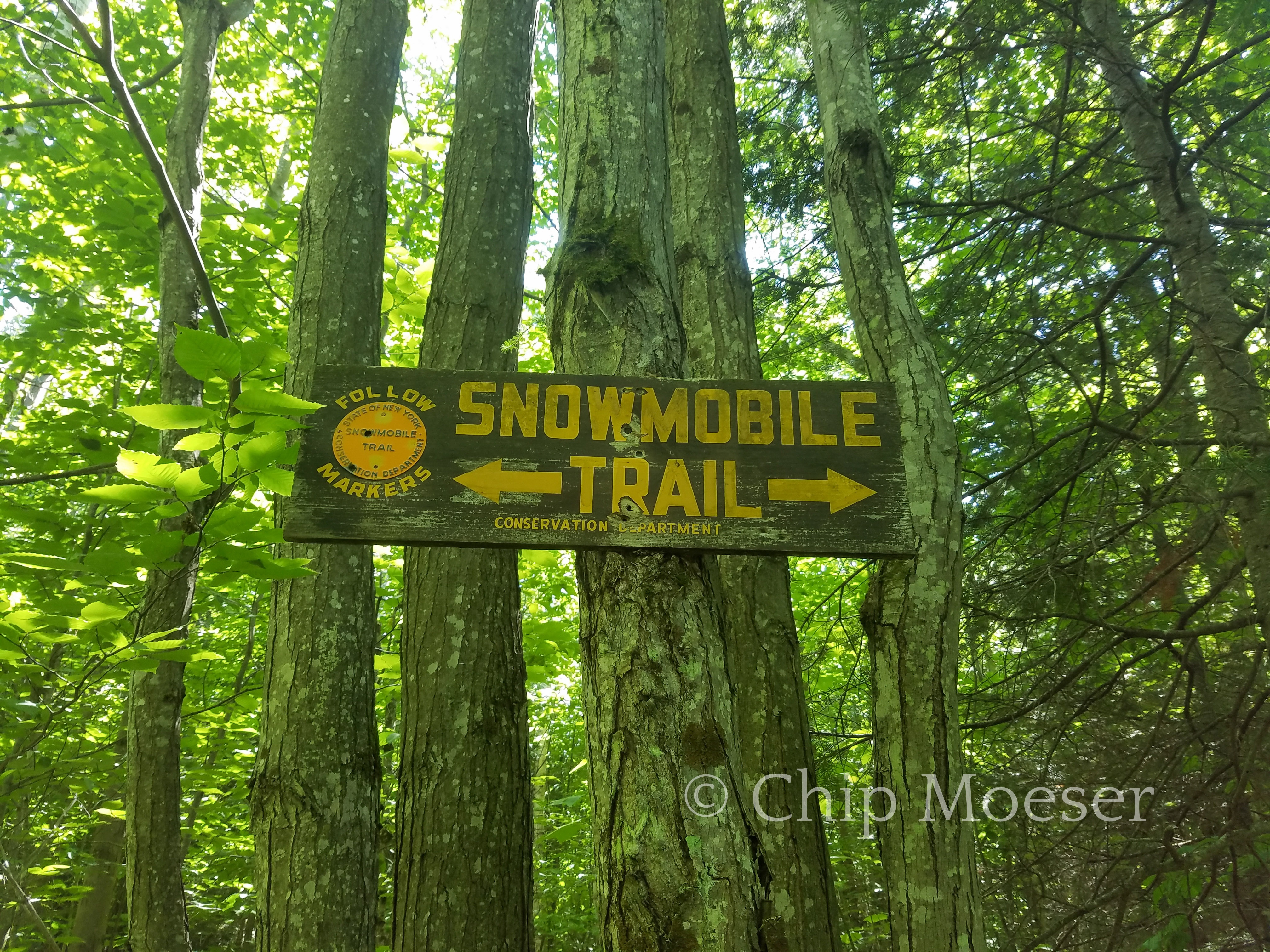 Snowmobile Trail sign